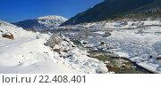Купить «Пейзаж в горах Кавказа зимой», фото № 22408401, снято 23 февраля 2016 г. (c) александр жарников / Фотобанк Лори