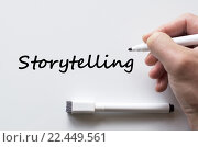 Купить «Storytelling written on whiteboard», фото № 22449561, снято 20 ноября 2018 г. (c) PantherMedia / Фотобанк Лори