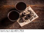 Купить «Pressed pu-erh tea», фото № 22451753, снято 15 октября 2018 г. (c) PantherMedia / Фотобанк Лори