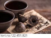 Купить «Still life with pu-erh tea», фото № 22451821, снято 15 октября 2018 г. (c) PantherMedia / Фотобанк Лори