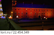 Купить «Christmas tree near Castle Square, Warsaw, Poland», видеоролик № 22454349, снято 3 февраля 2016 г. (c) BestPhotoStudio / Фотобанк Лори