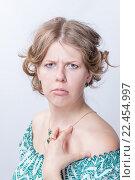 Удивленная молодая девушка. Стоковое фото, фотограф Алексей Шматков / Фотобанк Лори