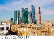 Купить «Москва Сити», фото № 22463517, снято 29 марта 2016 г. (c) Кирпинев Валерий / Фотобанк Лори
