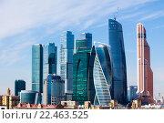 Купить «Москва Сити», фото № 22463525, снято 29 марта 2016 г. (c) Кирпинев Валерий / Фотобанк Лори