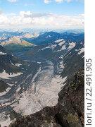 Ледник Ак-Кем на Алтае. Стоковое фото, фотограф Дмитрий Шульгин / Фотобанк Лори