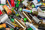 Фон из использованных батареек, предназначенных для утилизации, фото № 22514889, снято 7 апреля 2016 г. (c) Наталья Волкова / Фотобанк Лори