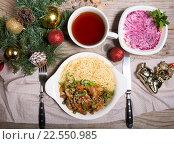 Купить «Рождественский ужин», фото № 22550985, снято 21 августа 2019 г. (c) Михаил Валеев / Фотобанк Лори