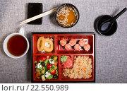 Купить «Японский ланч», фото № 22550989, снято 21 августа 2019 г. (c) Михаил Валеев / Фотобанк Лори