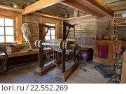 Домашний ткацкий станок 19 век (2016 год). Редакционное фото, фотограф Олег Велигданов / Фотобанк Лори