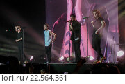 Купить «One Direction play their final gig at the Motorpoint Arena Sheffield before their year long hiatus Featuring: One Direction, 1 Direction, 1D Where: London...», фото № 22564361, снято 31 октября 2015 г. (c) age Fotostock / Фотобанк Лори