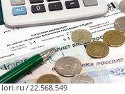 Купить «Налоговая декларация 3-НДФЛ», эксклюзивное фото № 22568549, снято 12 апреля 2016 г. (c) Наталья Осипова / Фотобанк Лори