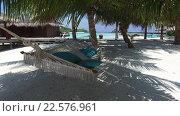 Купить «hammock at hotel resort on tropical beach», видеоролик № 22576961, снято 13 февраля 2016 г. (c) Syda Productions / Фотобанк Лори