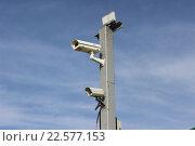 Камеры видеонаблюдения установленные на опоре (2014 год). Редакционное фото, фотограф Кохан Пётр / Фотобанк Лори