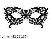 Узорная маскарадная маска. Стоковая иллюстрация, иллюстратор Шильникова Дарья / Фотобанк Лори