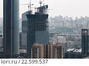 Строительство комплекса Москва-сити (2013 год). Редакционное фото, фотограф Сергей Алимов / Фотобанк Лори
