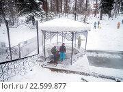 Горячий источники на курорте Горячинск, Бурятия (2016 год). Редакционное фото, фотограф Геннадий Соловьев / Фотобанк Лори