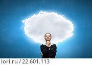 Купить «Pensive woman and her thoughts», фото № 22601113, снято 4 августа 2020 г. (c) Sergey Nivens / Фотобанк Лори