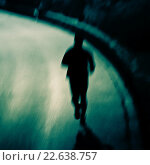 Купить «Silhouette of a runner.», фото № 22638757, снято 14 января 2015 г. (c) age Fotostock / Фотобанк Лори