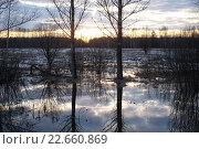 Весенний закат. Стоковое фото, фотограф Семенова Ольга Евгеньевна / Фотобанк Лори