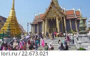 Купить «Храмы в Гранд Палас Бангкок», видеоролик № 22673021, снято 28 февраля 2016 г. (c) Михаил Коханчиков / Фотобанк Лори