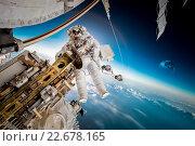 International Space Station and astronaut. Стоковое фото, фотограф Андрей Армягов / Фотобанк Лори
