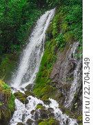 Птичий  водопад абхазия в горах. Стоковое фото, фотограф Дмитрий Панкрашин / Фотобанк Лори