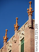 Купить «Details of the Hospital de Sant Pau in Barcelona, Spain», фото № 22721209, снято 9 января 2013 г. (c) Stockphoto / Фотобанк Лори