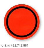 Круглый красный знак - шаблон. Стоковая иллюстрация, иллюстратор Евгений Ширинкин / Фотобанк Лори