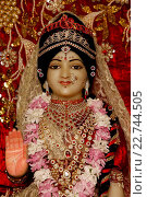 Купить «Statue of goddess Radha in an ISKCON temple», фото № 22744505, снято 19 апреля 2019 г. (c) age Fotostock / Фотобанк Лори
