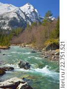 Купить «Горная река на Кавказе», фото № 22751521, снято 2 мая 2016 г. (c) александр жарников / Фотобанк Лори