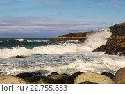 Купить «Побережье Баренцева моря, Северный Ледовитый океан,», фото № 22755833, снято 11 марта 2016 г. (c) Наталья Волкова / Фотобанк Лори