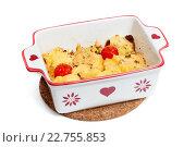 Купить «Картофель с сыром и помидорами», фото № 22755853, снято 3 мая 2016 г. (c) Юлия Кузнецова / Фотобанк Лори