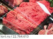 Focus on Shelves with meat. Стоковое фото, агентство Wavebreak Media / Фотобанк Лори