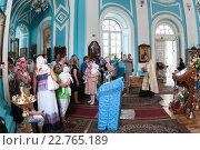 Купить «Люди с детьми на крещении в церкви Кулича и Пасхи, Санкт-Петербург», фото № 22765189, снято 7 августа 2010 г. (c) Кекяляйнен Андрей / Фотобанк Лори