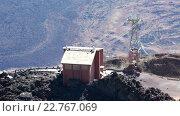Купить «Здание верхней станции канатной дороги на вершине вулкана Тейде. Тенерифе, Канары, Испания», видеоролик № 22767069, снято 16 февраля 2016 г. (c) Кекяляйнен Андрей / Фотобанк Лори