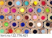 Текстура цветных карандашей как фон. Стоковое фото, фотограф Светлана Пасечная / Фотобанк Лори