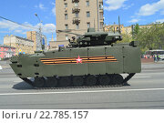 Купить «Генеральная репетиция военного парада в честь Дня Победы 7 мая 2016 года в Москве», эксклюзивное фото № 22785157, снято 7 мая 2016 г. (c) lana1501 / Фотобанк Лори