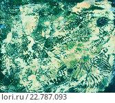 Абстрактный яркий акварельный фон на черной бумаге. Стоковое фото, фотограф Екатерина Кулаева / Фотобанк Лори