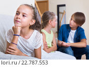 Купить «child sitting aside of boy and girl», фото № 22787553, снято 8 июля 2020 г. (c) Яков Филимонов / Фотобанк Лори