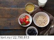 Купить «Ингредиенты для завтрака», фото № 22790813, снято 24 апреля 2016 г. (c) Афанасьева Ольга / Фотобанк Лори