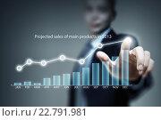 Купить «Analyzing sales data», фото № 22791981, снято 21 сентября 2012 г. (c) Sergey Nivens / Фотобанк Лори