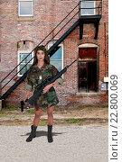 Купить «Woman Soldier», фото № 22800069, снято 26 мая 2020 г. (c) easy Fotostock / Фотобанк Лори