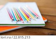 Купить «close up of crayons or color pencils», фото № 22815213, снято 17 марта 2016 г. (c) Syda Productions / Фотобанк Лори