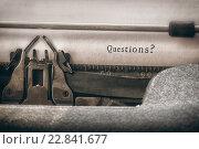Купить «Composite image of questions? message», фото № 22841677, снято 20 октября 2019 г. (c) Wavebreak Media / Фотобанк Лори