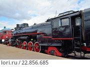 Купить «Грузовой паровоз ФД 20 1103 в железнодорожном музее в Санкт-Петербурге», фото № 22856685, снято 11 мая 2016 г. (c) Максим Мицун / Фотобанк Лори