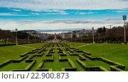 Купить «Eduardo VII Park in Lisbon, Portugal», видеоролик № 22900873, снято 2 апреля 2016 г. (c) BestPhotoStudio / Фотобанк Лори