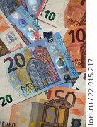 Купить «Berlin, Germany, euro bills», фото № 22915217, снято 3 января 2016 г. (c) Caro Photoagency / Фотобанк Лори