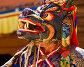 Купить «Монах в маске и ритуальном костюме исполняет священный мистический танец на фестивале танца Цам (торжественного религиозного служения, совершаемого ежегодно на открытом воздухе в буддийских монастырях) в монастыре Карша (Курча), Ладакх, Гималаи, Индия», фото № 22927897, снято 17 июля 2012 г. (c) Олег Иванов / Фотобанк Лори