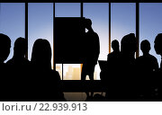 Купить «business people silhouettes at meeting in office», фото № 22939913, снято 4 апреля 2020 г. (c) Syda Productions / Фотобанк Лори