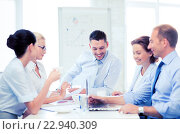Купить «business team having meeting in office», фото № 22940309, снято 9 июня 2013 г. (c) Syda Productions / Фотобанк Лори